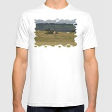 Wild Ponys in Cornwall Mens Fitted Tee SMALL White