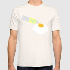 PAINT MY SUNNY SIDE Mens Fitted Tee Natural SMALL