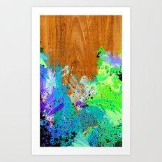 Watercolour Arbutus Wood Art Print