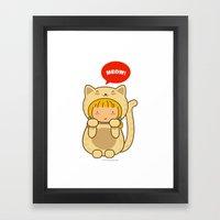Lucky Cat Framed Art Print
