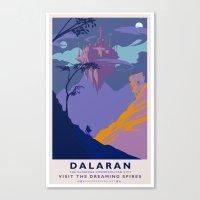 Dalaran Classic Rail Pos… Canvas Print