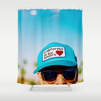 California is for Lovers Shower Curtain