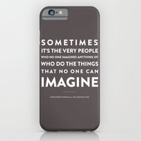 iPhone & iPod Case featuring Imagine - Quotable Series by Armistead Booker