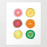Colorful Collages Fruit … Art Print