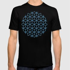 Cubes SMALL Black Mens Fitted Tee