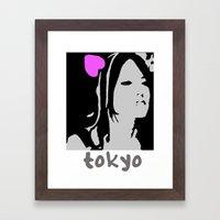 Love Tokyo Framed Art Print