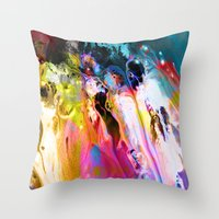Self-Conscious Sparks Throw Pillow