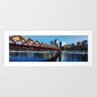Peace Bridge Calgary Art Print