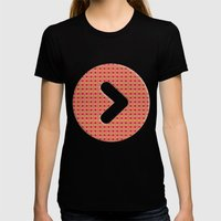 Jelly Arcade Pattern Womens Fitted Tee Black SMALL