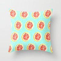 Grapefruit II Throw Pillow