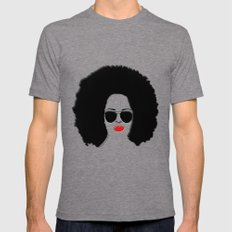 She is FABULOUS Mens Fitted Tee Tri-Grey SMALL