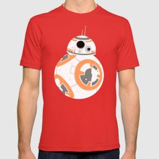 BB-8 on Jakku Mens Fitted Tee Red SMALL