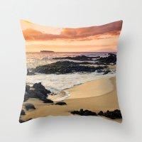 Paako Beach Dreams Throw Pillow