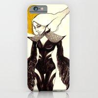 iPhone & iPod Case featuring Raven by Fatma Sahem