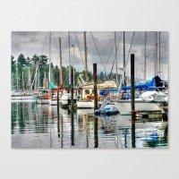 Vancouver Boat Harbor Canvas Print