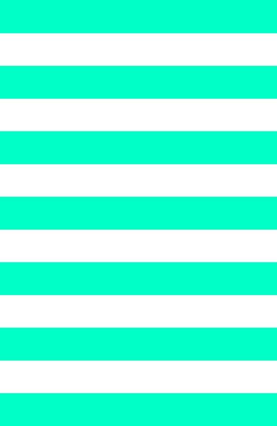Mint White Stripes Art Print