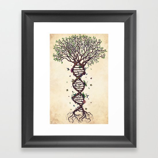 The Fabric Of Life Framed Art Print By Ren 233 Campbell
