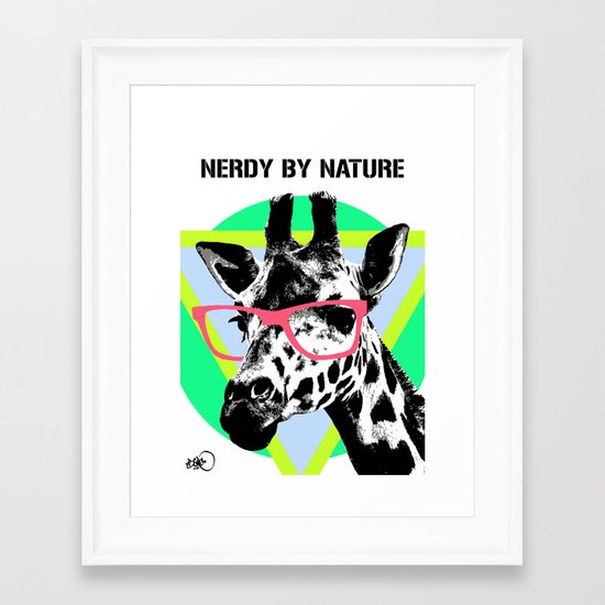 nerdy by nature Framed Art Print
