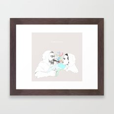 Smoke shower Framed Art Print