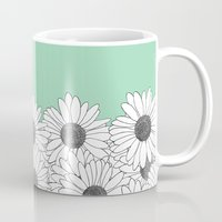 Daisy Boarder Mint Mug