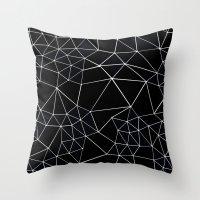 Segment Zoom Black and White Throw Pillow