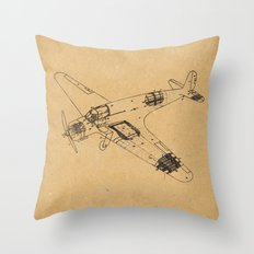 Airplane diagram Throw Pillow