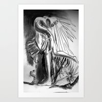 A strange bird Art Print