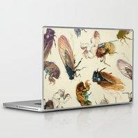 floral Laptop & iPad Skins featuring summer cicadas by Teagan White