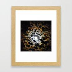 Tiger Full Moon Framed Art Print