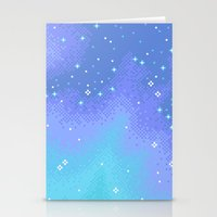 Twilight Nebula (8bit) Stationery Cards