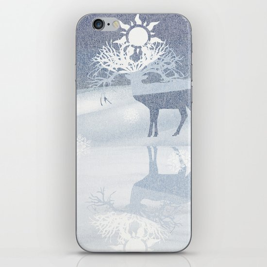 a deer with nine horns is bringing back the sun~ illustration  iPhone & iPod Skin