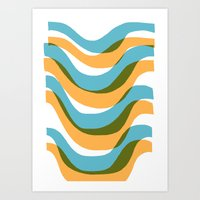Wave - Palm Springs Circa 1967 Art Print