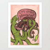 OCTOPLAY Art Print