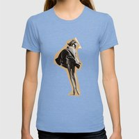 Lasers Womens Fitted Tee Tri-Blue SMALL