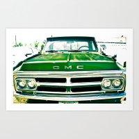 Green GMC Art Print