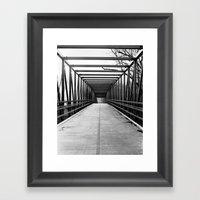 Bridge To Nowhere Black … Framed Art Print