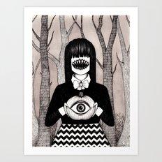 pumpkin eye Art Print