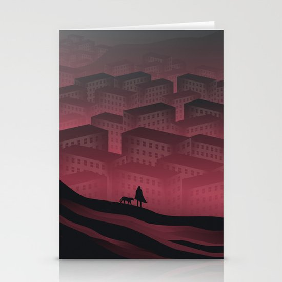 Sleeping Town Stationery Card