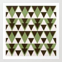 Triangles Art Print