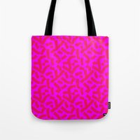 Hot Pink Cheese Doodles /// www.pencilmeinstationery.com Tote Bag