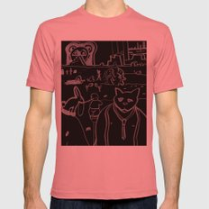 Untitled #10 Mens Fitted Tee Pomegranate SMALL