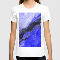 T-shirt featuring Blue And Black Abstract by Jen Warmuth Art And …