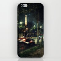 Paris Night III iPhone & iPod Skin