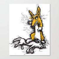 Evil Corgi #2 Canvas Print