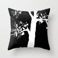 Chokecherry Tree Throw Pillow