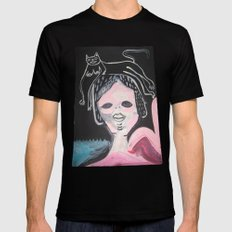 Gato Head Black Mens Fitted Tee SMALL