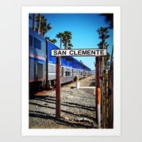 San Clemente Surfliner Art Print