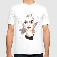50s sex symbol SMALL Mens Fitted Tee White