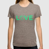Basketball Love Womens Fitted Tee Tri-Coffee SMALL