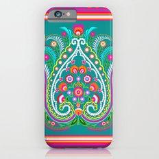 folk turquoise damask Slim Case iPhone 6s
